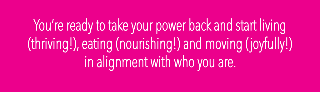 Take your power back and start living!